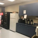 Break room and kitchen