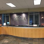 Front desk of Anaheim training and conference center