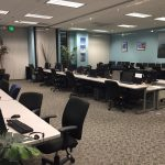 The CCTV lab in Anaheim for trainings or conferences