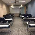 Desks in room 111 for IT training and room rentals